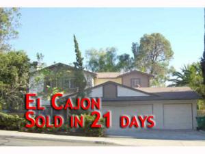 El Cajon House Sold in 21 days