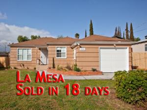 La Mesa House Sold in 20 days